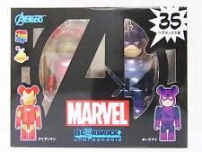 new~ Medicom #35 Spider-Man Avengers Iron Man & Hwakeye Box Be@rbrick Bearbrick