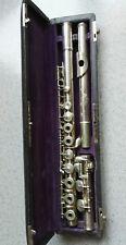 flûte traversière en métal argenté signée L.Blemant Paris TM