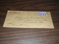 MAY 1943 RAILWAY EXPRESS AGENCY ENVELOPE ERIE RAILROAD WELLSVILLE NEW YORK