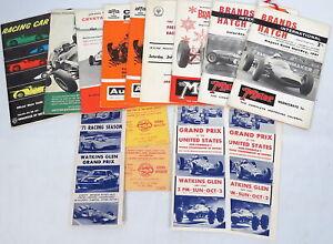 Lot Vtg Auto Racing Programs Brochures & Tickets Grand Prix Formula One Open Car