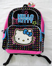 NWT NEW Hello Kitty Character Polka-Dotted Girl's Lightweight  Backpack