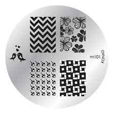 M101  Konad Design Image Plate for Nail Art Stamping transfer