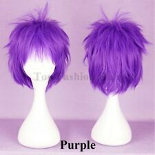 Short Straight Anime Wig Women Men Loose Straight Hair Cosplay Wig Synthetic Tfh