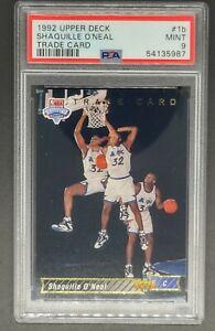1992-93 UD Upper Deck #1B Shaq Shaquille O'Neal HOF Rookie PSA 9 TRADE CARD