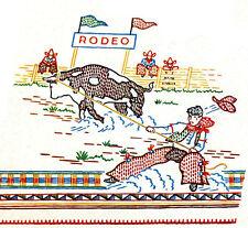 Bronc Rider Calf Roper Embroidery Transfer Rodeo design Horse Bull Western 688