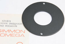 "Omega 3.5"" Lens Mount Board Disc Plate 421-001 39mm Unthreaded Hole - NEW D68K"