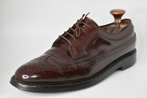 * Florsheim Imperial * Oxblood Leather Cordovan Longwing Derby Shoes 9.5 B US