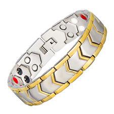 Hottime Magnetic Far Therapy Negative Lon Bracelet Pain Relief Titanium Steel US