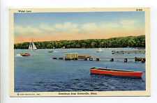 Greetings from Ortonville Mn Minn (Big Stone Co) 1942, dock, boats, Water Lure