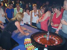 More details for casino tables, roulette and black jack, full size light weight wheel, chips etc.