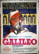 manifesto 4F originale GALILEO Liliana Cavani Cyril Cusack 1968 art Manfredo