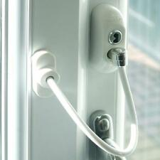 White Window Door Restrictor Safety Locking Child Security Wire Cable LC
