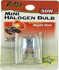 Zilla Reptile Terrarium Heat Lamps Mini Halogen Bulb 50W Night Red Thicker Glass