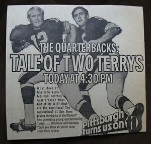 Terry Bradshaw newspaper clippings (with Chuck Noll, etc) Lot of Six, 1970's