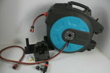 See Notes Gardena 82' Retractable Wall Mounted Hose Reel w Hose Guide Teal