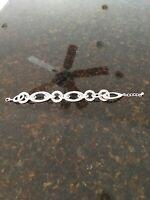 """Vintage Chunky Bracelet Silvertone Chain Link Bracelet 7 1/2""""  silver  Bracelet!"""