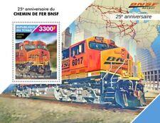 Chad - 2020 BNSF Railway Anniversary & Trains - Stamp Souvenir Sheet -