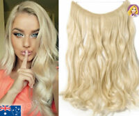 Realistic Human Invisible Real Hair Extensions Beach Blonde Curly Extentions 24""