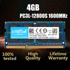Crucial 4GB 2Rx8 PC3L-12800S DDR3 1600MHz SO-DIMM Laptop RAM Speicher Notebook