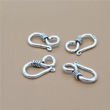 8 Sterling Silver Hook Clasps for Bracelet Necklace