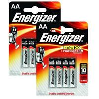 8x Genuine Energizer LR6 Max AA Power Seal Battery 1.5 V Alkaline Batteries