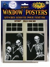 Skeleton Window Poster Halloween Home Wall Window Haunted House Decoration