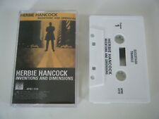 HERBIE HANCOCK INVENTIONS AND DIMENSIONS CASSETTE TAPE APPLAUSE USA 1982