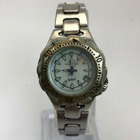 Freestyle Womens 762 Silver Stainless Steel Date Indicator Quartz Analog Watch