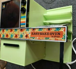 Vintage working clean Lime Green EASY-BAKE OVEN by KENNER in box