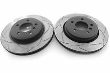 DBA2855S - DBA T2 Slotted Front Disc Rotors 1-Piece (Pair) -BMW 330 (E46) models