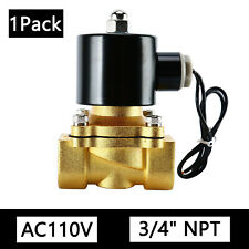 3/4 inch 110V AC Brass Electric Solenoid Valve NPT Gas Water Air, Free Shipping
