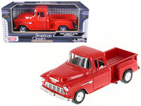 1955 Chevrolet 5100 Stepside Pickup Red 1:24 Diecast - by Motormax 73236RD*