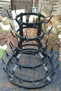 BEAUTIFUL FRENCH ANTIQUE BOTTLE DRYING RACK COTTAGE COUNTRY DUCHAMP