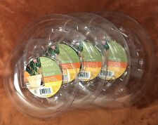 The Super Saucer, Lot Of 4 Plastic Plant Saucers Clear Planter Trays