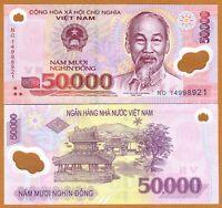 Vietnam, 50,000 (50000) dong, 2014, Pick 121-New, Polymer, UNC