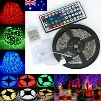 5M 10M 3528 RGB SMD LED Strip Light 44Key Remote Controller Power Supply Adapter