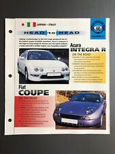 "Acura Integra R vs. Fiat Coupe ""Head to Head"" IMP ""Hot Cars"" Spec Sheet Awesome"