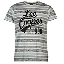 Lee Cooper Stripe T Shirt Mens Short Sleeve 100% COTTON Top XLARGE R743-2