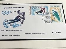 GRENOBLE jeux olympiques 1968 massive Cover vente: Mauritanie