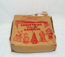 Vintage GURLEY CHRISTMAS CANDLE RETAIL DISPLAY BOX COMPLETE 12 CANDLES & EXTRAS!