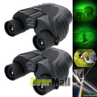 2x Day/Night Military Army 10x25 Zoom Ultra HD Binoculars Optics Hunting Camping