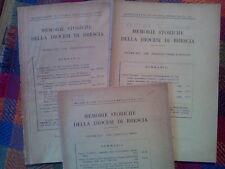 MEMORIE STORICHE DELLA DIOCESI DI BRESCIA - annata completa 1958  sotto i titoli