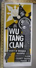 2006 Rock Concert Poster Wu Tang Clan Print Mafia S/N LE-100 Ninja Phoenix AZ