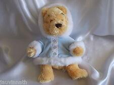 Doudou l'ourson Winnie, veste bleu, fourrure, Disney Store
