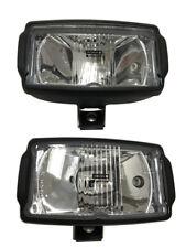 2x Fernscheinwerfer LKW  H3 mit Positionlicht H3 12V/24V 220x123mm Scheinwerfer