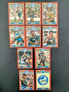 Scanlens 1986 Rugby League Set Of 10 Parramatta Eels Cards NRL  Peter Sterling