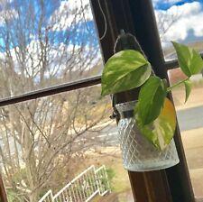 2 X Glass Hanging Plant Terrarium Flower Vase Pot Diamond Crystal Pot