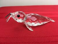 """Retired Swarovski Austrian Crystal  Adorable """"Large Seal""""  w/ Silver Whiskers #H"""