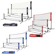Adjustable Tennis Badminton Volleyball Net with Stand Frame & Carry Bag