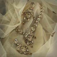 Party wear Jewellery set Encrusted With Swarovski Crystals Indian Jewellery